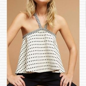 NWT Anthropologie Dotted Jaquard Swing Tank Size S